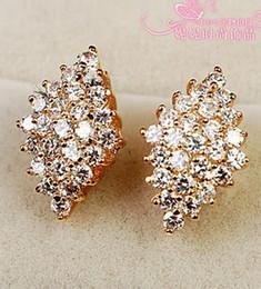 diamond crystal square lady's earings (11*17*5mm ) ( nnsssp)