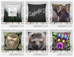 Wholesale-New Fashion 3D printing Animal 40*40cm Cushion Pillow Waist Pillow Cotton polyester Pillowcase Fast Shipping