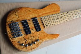 Wholesale ALL NEW Fodera Imperial widened mm six string bass strings from the whole body map pattern wood color