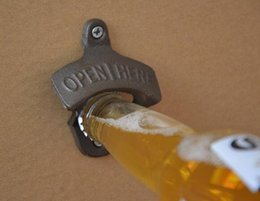 Wholesale Custom Design Print Logo Mouse over image to zoom Rustic OPEN HERE Beer Bottle Opener Sturdy Cast Iron Wall Mounted