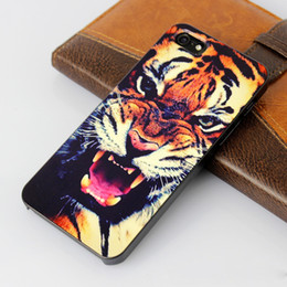 Wholesale For iPhone G S Animal Series tiger leopard wolf Hound Case D stereo PC plastics Hard case for iPhone G S back cover