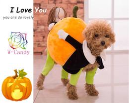 Большие костюмы для собак Онлайн-2015 Горячие продажи Instagram двигаться тыквы собака костюм новизны Смешные партии Halloween Pet Одежда для собак Комбинезоны Большая одежда собаки
