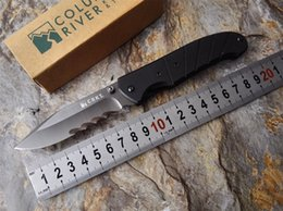Wholesale CRKT K Folding Serrated knife Cr14Mov Blade Black G Handle Survival Knives Military Outburst Assisted Opening Veff Serrated Knife