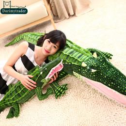 Dorimytrader Hot 79''   200cm Funny Stuffed Soft Plush Lovely Large Simulated Animal Crocodile Toy, Nice Baby Gift, Free Shipping DY60721