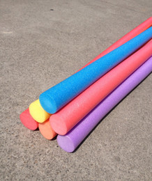 Wholesale 1pc Pool Noodle Swimming Training Exercise Foam Water Noodle Kids Adults Aid Float Pool Fun cmx1 m