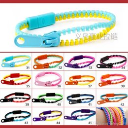 2015 Hot! European and American jewelry 5-color zipper Zip Width wristband candy bracelet Popular Zipper bracelet