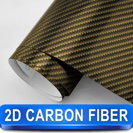 Wholesale Gold D carbon fiber decal sticker best for car decoration hot sale vinyl Size m x m