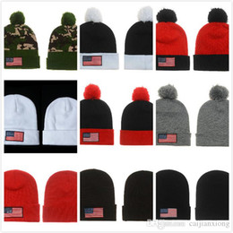 Wholesale Free fast shipping Hip hop USA american national flag star Beanies caps wool winter warm knitted hats Skullies fashion for man women