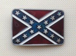 Red And Star Flag belt buckle with pewter finish SW-BY104 brand new condition with continous stock