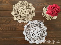2015 new fashion 30 pic lot 20 cm round table pad cotton crochet doilies potholders cup mat napkin cup coaster tablemat wedding