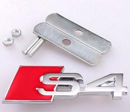 Wholesale Exterior Accessories Emblems Auto Motor Metal Hood S line Sline S4 Front Grille Grill Badge Emblem s4 emblem