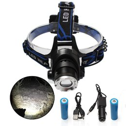 XML-T6 L2 Waterproof Chargeable High Brightness 1000 Lumen LED Outdoor strong light LED head fishing lamp Outdoor headlamp for 18650 battery