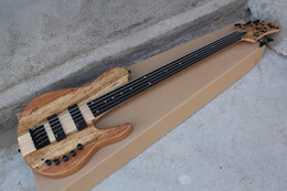 The Customzied 5-String Electric Bass with Original Body and Map Lines,with Neck-thru-body Design and Initiative Pickups