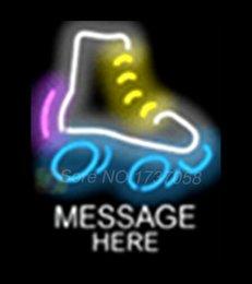 Wholesale Custom Message Skate Signboard Shop Neon Sign Commercial Avize Outdoor Nikke Air Jorrdan Neon Signs Glass Tube Handicraft