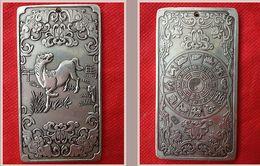 Wholesale Old chinese Tibet Silver amulet Bullion statue thangka netsuke zodiac horse NA