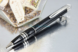 Wholesale MB SW High Quality Office School Stationery Sliver Clip and Pure Black Ballpoint Pen