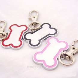 Wholesale Pet Tags Stainless Steel Bone Shaped Necklace Pendant Charm Pet Carving Dog ID Tag Cat Hanging Ornament Pet Accessory Dog Pet Supply Product