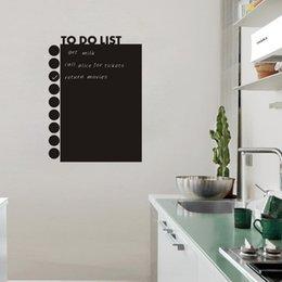 Wholesale TO DO LIST Calendar Chalkboard Wall PVC Sticker Home Bedroom Waterproof Removable DIY Blackboard