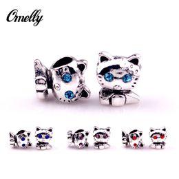 Gatos lindo Ale Pandora Charms de plata llena flojo de los granos al por mayor de joyería de bricolaje para Pandora pulsera de Whlesale 2015 desde gatos de perlas fabricantes