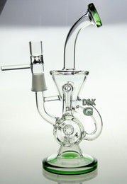 Wholesale New double recycler glass water pipe glass pipe glass bong quot size with mm joint