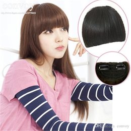 Wholesale Hair Bangs fringes for womens girls Front Neat Bangs Straight bang Ladies Fashion Hair Fringe Clip in Clip on Hair Extension Hairpiece LH07