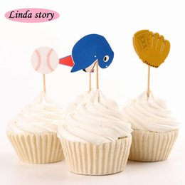 Wholesale 2016 New Cute Sport series Cup Cake Topper Baby Shower Cake Birthday Wedding Party Decoration party supplies