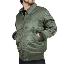 Wholesale Fall Direct Alpha factory airmen jacket CWU P Nomex MA1 winter jacket Men s casual cotton winter coat short paragraph