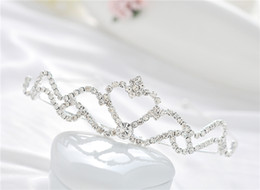 Wholesale Baby girls Headbands mini tiaras jewelry Manufacturer supply Hair set of the bride heart Tiara jewelry S HG912