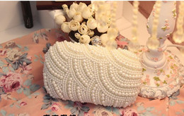 Wholesale mini bags high pearl bridal Evening Bags wedding banquet beaded evening bags shoulder bags wallets handbags Clutches Bridal Purse