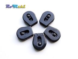 "100pcs 1 8""(2.8mm) Cord Lock Ends Stopper Drawstring Sliding Plastic Wheel Pull-Strings Works Well For Shoe Cloth Bag"