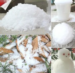 Wholesale Magic Prop DIY Instant Artificial Snow Powder Simulation Fake Snow for Party Christmas Decoration supplies stage set for children baby toys