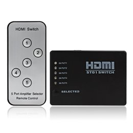 Wholesale 5 to Mini Ports HDMI Amplifier Switcher P HD Video Converter with Remote Control HMP_546
