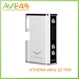 Wholesale Authentic Athena Envy w TC Box Mod with Built in mAh Battery Temperature Control mods VS Kamry Gang W Box Mod