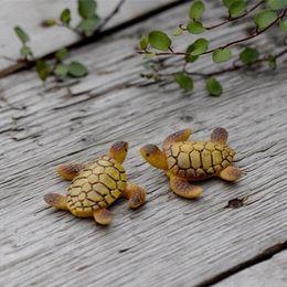 Kawaii Tortoise 3*3.5cm ornaments miniatures for fairy garden gnome resin crafts bonsai bottle garden decoration