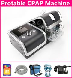 Wholesale Anti Snoring CPAP Machine Respirator Ventilator for Sleep Apnea OSAHS OSAS Snoring People W Free Mask Belt Tube Bag GB SD Card