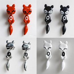 Women Girl Cute Animal Fox Stud Earrings