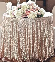 Wholesale Custom Size Round Champagne Sequin Cloth Sequin TableCloth Sequin Table Cloths Sparkly sequin fabric Table Sequin Linens