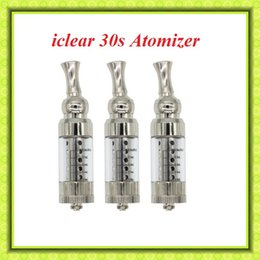 iclear 30s atomizer Dual Coil Huge vapour Replaceable 3ML Clearomizer for EGO Electronic Cigarette VS CE4 Atomizer