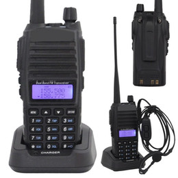 Wholesale-Baofeng Walkie Talkie UV-82 136-174 & 400-452 MHz Dual Band Display 8W Earphone Dual Band
