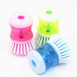 Wholesale 2016 new New Hot Palm Dish Brush with Washing Up Liquid Soap Dispenser Storage Set