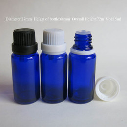 wholesale Retail 10pcs lot 15ML Blue Glass Packing Bottles, Essential Oil With Screw On Cap, Reducer Bottles