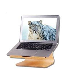 Wholesale Original Samdi Heat Dissipation Stand Portable Laptop Holder Rack Wood Stand For MacBook Air Pro Laptop Wooden Laptop Lapdesks Holder Bracke