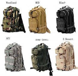 30L Outdoor Sport Military Tactical Backpack Molle Rucksacks Camping Trekking Bag backpacks 50pcs Free DHL Fedex
