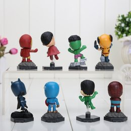 Wholesale Set of retail Q edition Superheroes The Avengers Mini Figures Doll ToyCartoon Movie PVC
