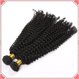 Remy Hair Brazilian Human Virgin Hair Kinky Curly Natural Black Color Can Be Dyed And Bleached Fast Free Shipping