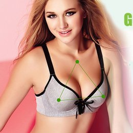 Wholesale Hot sale heathy bamboo fiber fabric push up vest Active sports youga bra front closure AB small breast womens intimate FACTORY