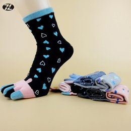 Wholesale Cute Toe Socks For Women - Wholesale-women Short Toe Socks 100% Cotton Lolita Style women socks Cute high quality socks for women Casual Breathable girl meias