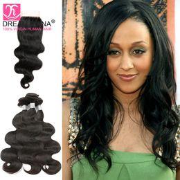 7a body wave 3 bundles brazilian hair weaves closure brazilian body weave 4pcs closure brazilian human hair