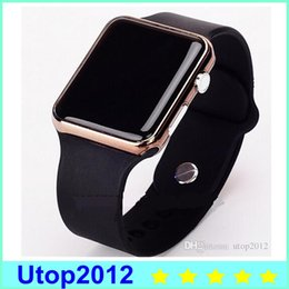 Wholesale New Arrival Fashion Sport LED Watches Unisex Candy Color Alloy Touch Screen Digital Bracelet Wristwatch By DHL