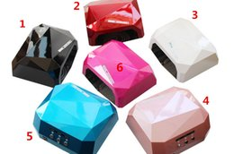 Wholesale 2016 Fashion CCFL W LED Light Diamond Shaped Best Curing Nail Dryer Nail Art Lamp Care Machine for UV Gel Nail Polish Free DHL ship